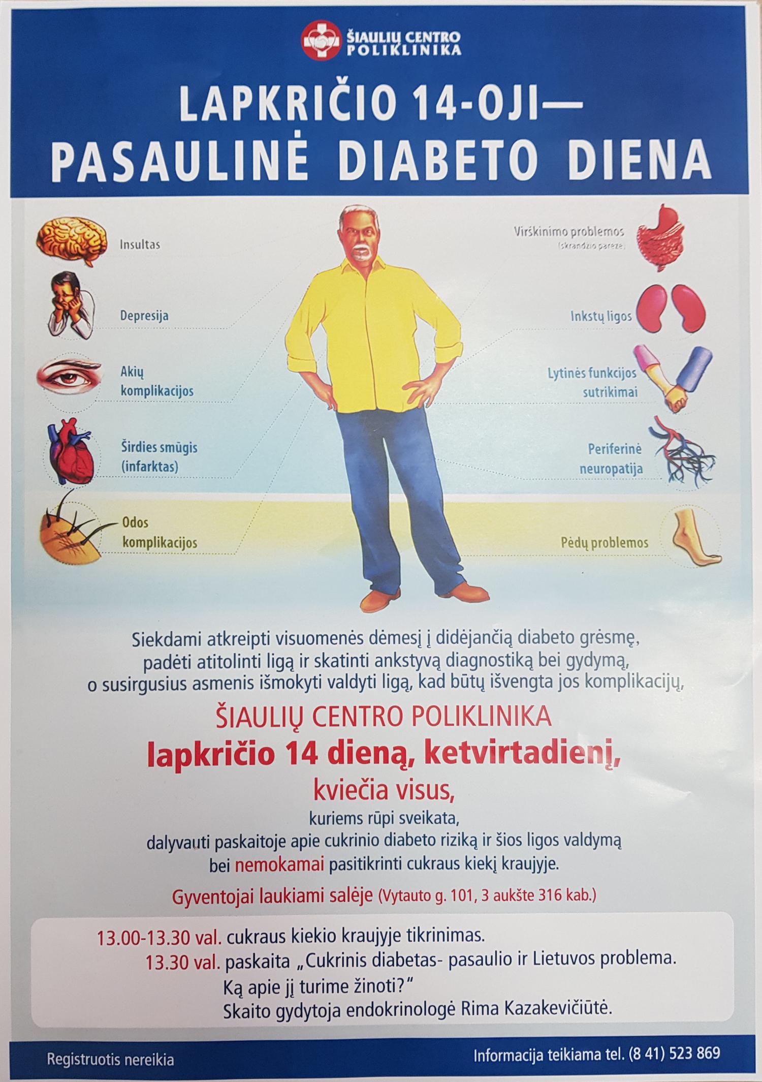 hipertenzija kaip diabeto komplikacija patyrė hipertenziją